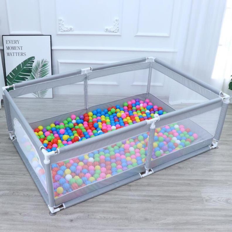 Quây bóng cho bé, nhà bóng cho bé khung inox chống va đập tặng kèm 100 quả bóng