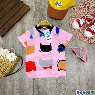 Quần áo bé gái [Cực xinh] Áo thun in hình mèo nổi bật, xinh cute