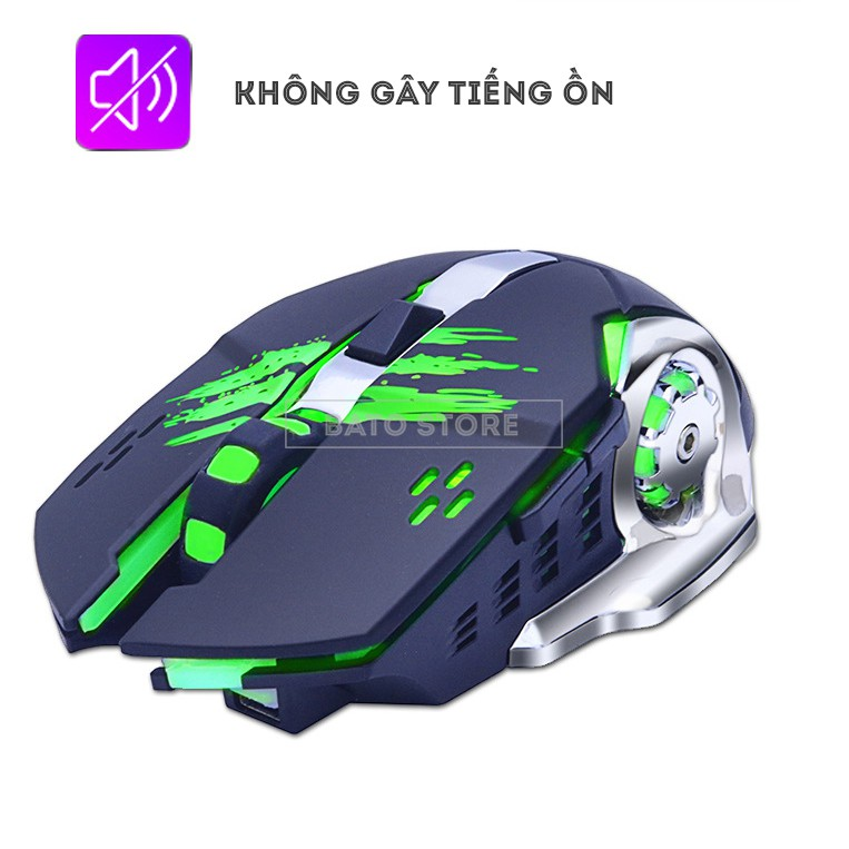 Chuột Gaming Không Dây ZUOYA MMR4 24GHz, Pin Sạc, 6 nút 1600DPI, Chống Ồn - Tặng Lót Chuột