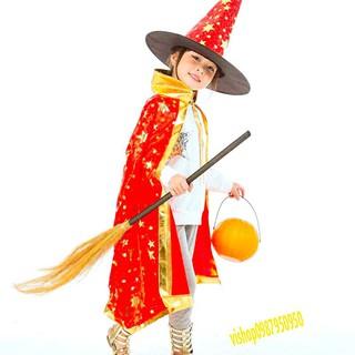 Set mũ phù thủy và khăn choàng hóa trang phù thủy lễ Halloween mã RVS7 Wbán xong