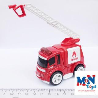 Ô tô sắt – xe cứu hỏa dài 8cm