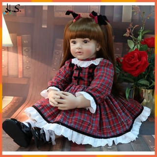 [HS] 60cm Simulated Doll Big Size Reborn Toddler Princess Silicone Adorable Lifelike Baby Girls Doll