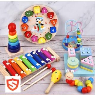 Đồ chơi gỗ thông minh an toàn cho bé
