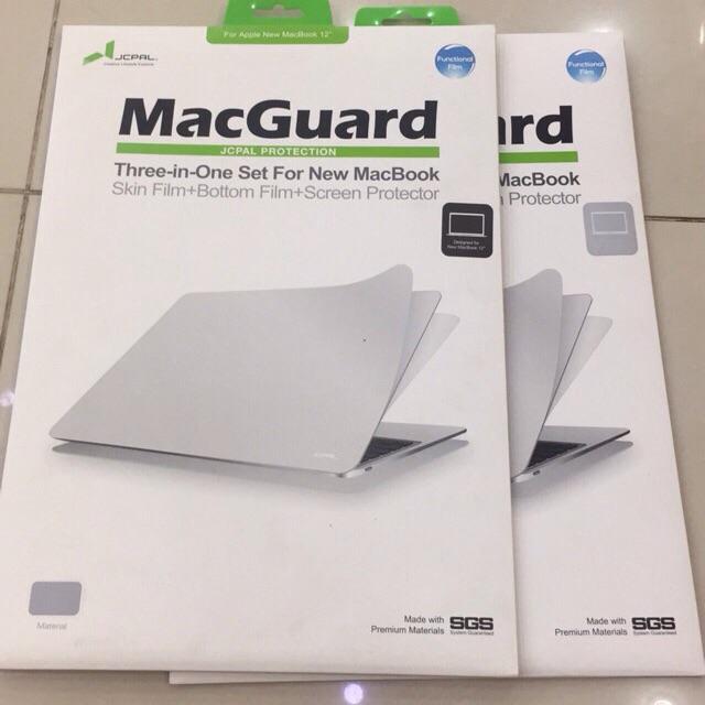 Bộ dán 3in1 bảo vệ New Macbook 12inch JCPAL Giá chỉ 365.000₫