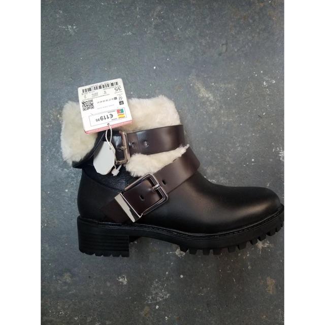 [Order] Boots Zara cổ lông xuất dư