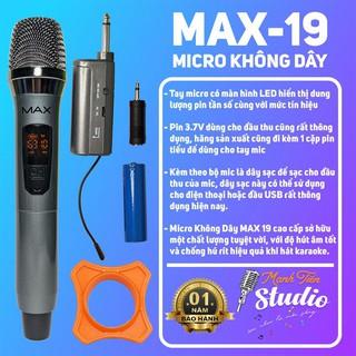 [Siêu Phẩm] Micro không dây MAX19 hát karaoke gia đình, party ,hát live stream fb, kết nối loa kéo - âm thanh trung thực