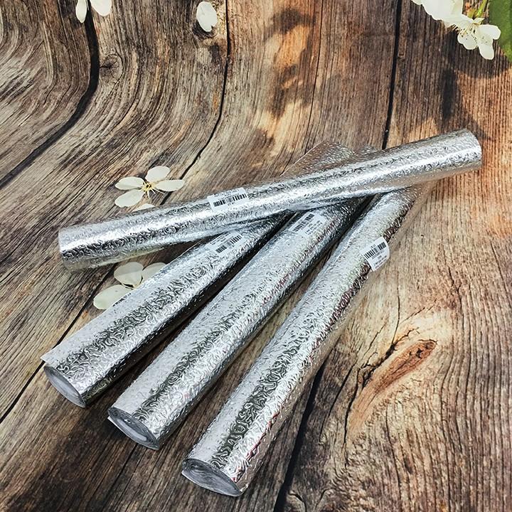 Cuộn giấy bạc dán bếp cách nhiệt, miếng decal dán tường nhà bếp chống thấm dầu mỡ bền đẹp (2mx40cm, 3mx60cm)