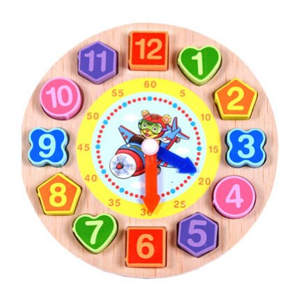 Đồng hồ số hình khối luồn dây 3 in 1 – Đồ chơi bằng gỗ thông minh cho bé luyện kỹ năng