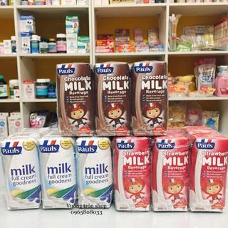 Sữa tươi tiệt trùng nguyên kem cao cấp Paul 200ml Úc các vị: Dâu, Socola, Fullcream
