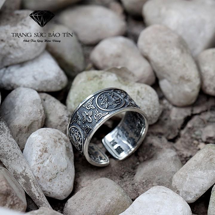 Nhẫn Bạc Nam Bạch Hổ Chất Liệu Bạc Thái Cao Cấp - Bảo Tín