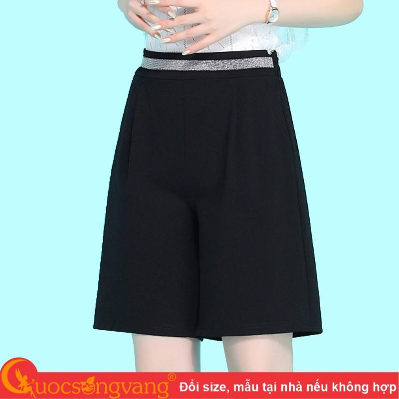 Quần short nữ lưng cao quần lửng nữ eo thun GLQ152
