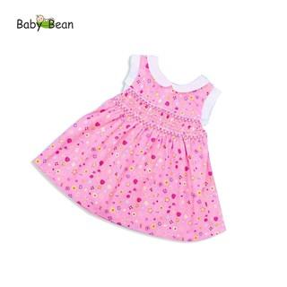[MÃ THƯƠNG HIỆU YÊU THÍCH Voucher giảm 10%] Đầm Đũi thêu Smock Cổ Sen bé gái BabyBean