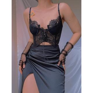 Áo Bralette ren gọng không kèm mút đan dây trước ngực Cô Kim 7 thumbnail