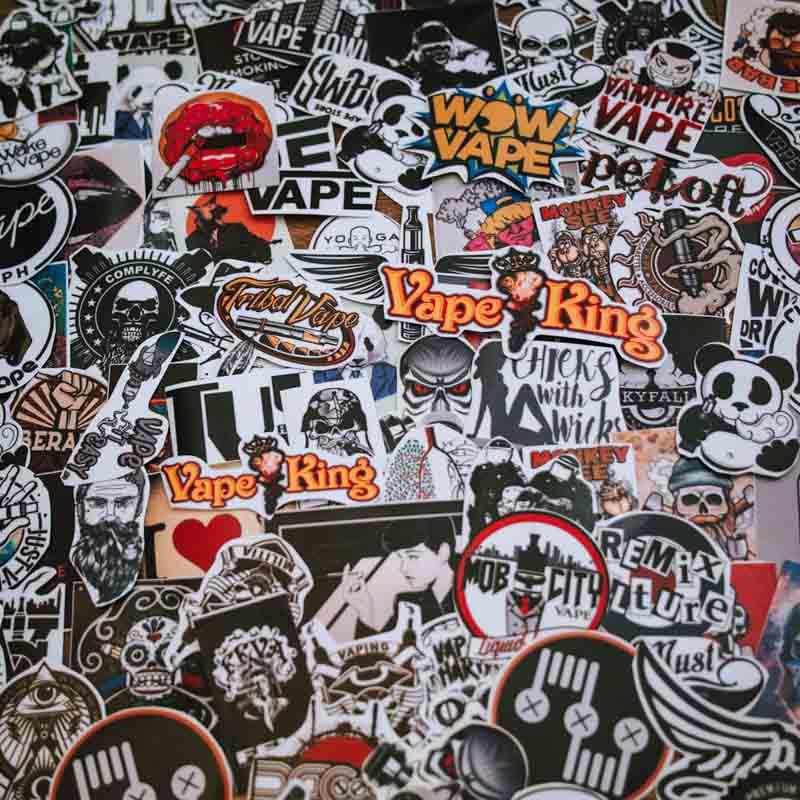 Set 100 Sticker hình dán - Vape