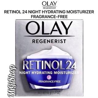 [Hàng Mỹ] Kem Dưỡng Da Ban Đêm Olay Retinol 24 Night Hydrating Moisturizer Fragrance Free 48g