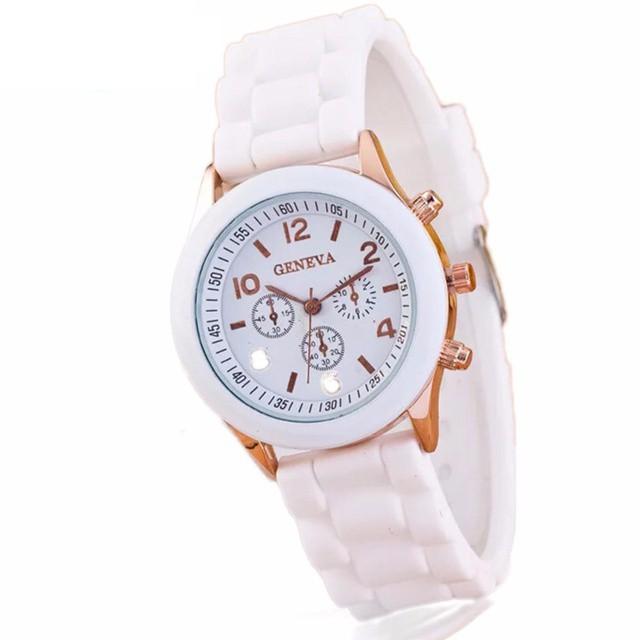 Đồng hồ nữ GENEVA mặt tròn dây cao su