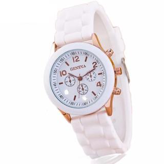 Đồng hồ nam nữ GENEVA mặt tròn dây cao su thumbnail