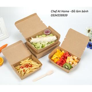 Yêu ThíchHộp giấy kraft chữ nhật đựng thức ăn (10 hộp)