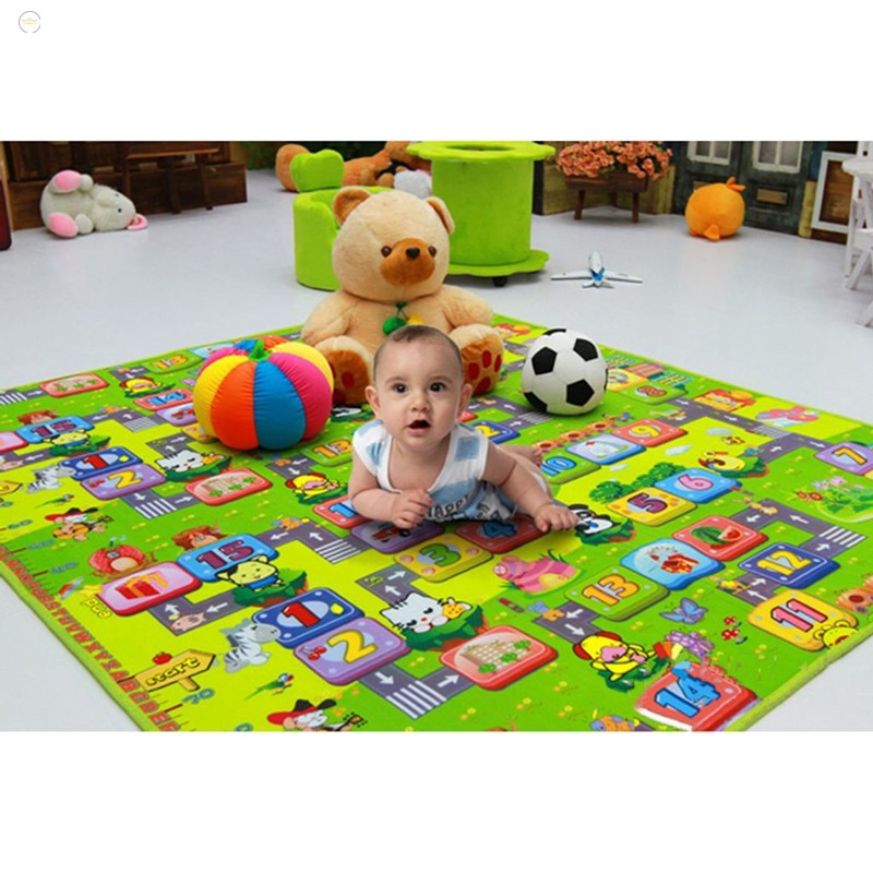 Thảm 2 mặt cho bé Maboshi 2 x 2,5 m cho bé ngồi chơi Sản Phẩm Sáng Tạo