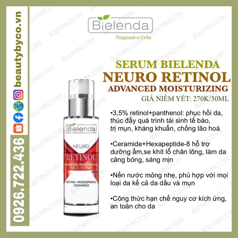 Serum Retinol Bielenda Neuro trẻ hoá, làm da căng bóng, mờ thâm sẹo