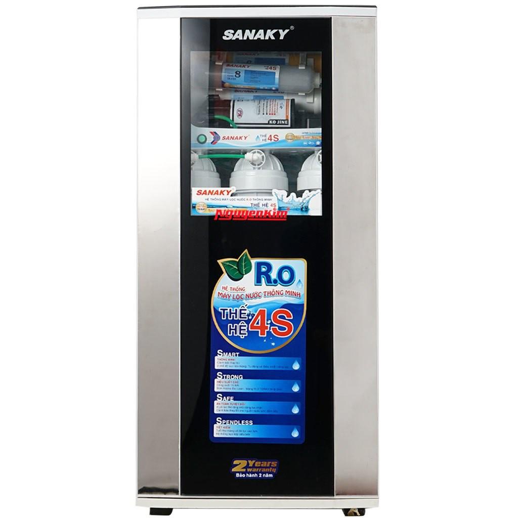 Mã ELMALLCOIN hoàn 8% xu đơn 500k] Máy lọc nước Sanaky 8 cấp lọc, vòi đơn  SNK-CG87