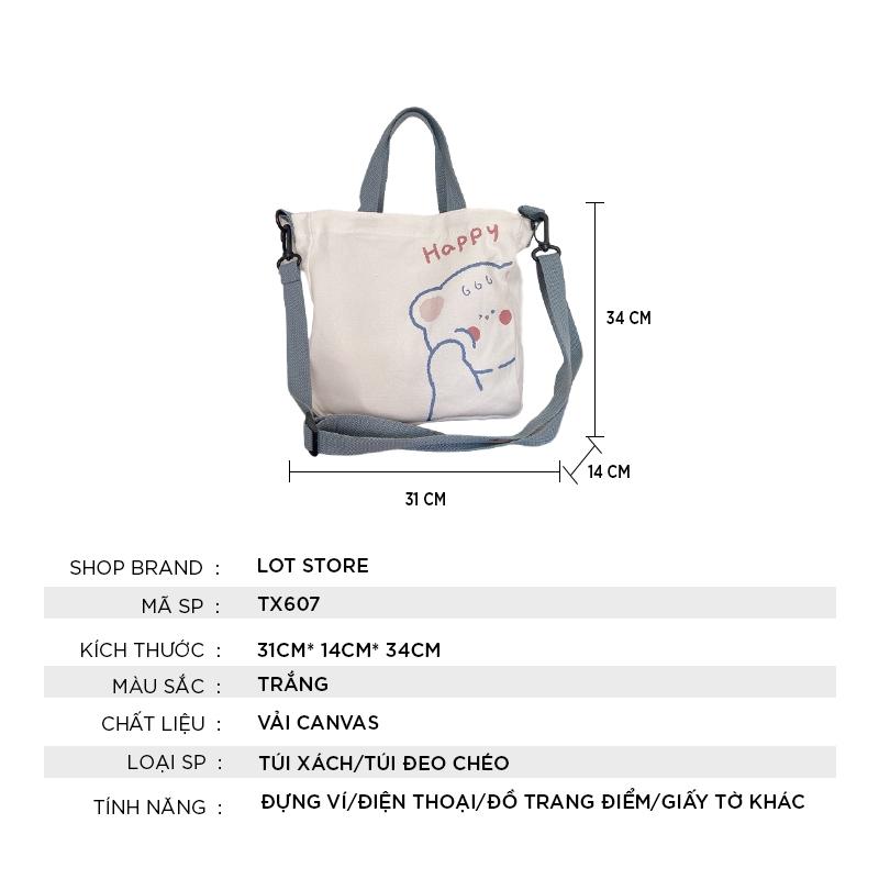 Túi xách nữ cao cấp đeo chéo đẹp giá rẻ thời trang LOT STORE TX607