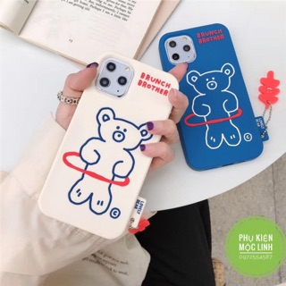 🐻Tặng kèm móc tay 🐻 Iphone 6plus 7plus 8plus X xs max 11 11 pro max ốp gấu bear Brunch Brother