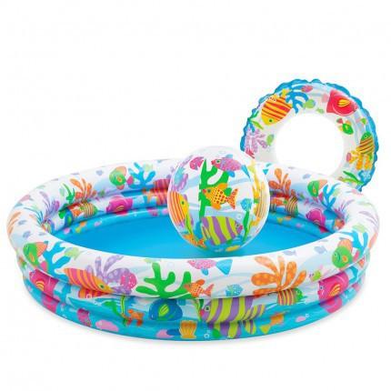 [Nhập mã TOYJUNE giảm 10K]Bể bơi 3 chi tiết kèm bơm điện cho bé