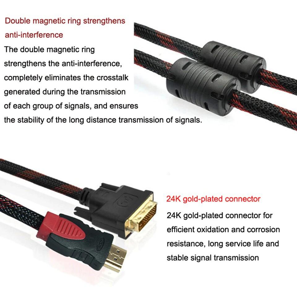 Cáp chuyển đổi HDMI sang DVI-D 24+1, Cáp Chuyển DVI Sang HDMI 1.5m/5ft [ DVI  TO HDMI & HDMI TO DVI ] - Dây cáp tín hiệu khác