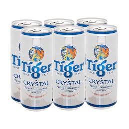 Combo 6 lon bia Tiger bạc - Lon cao 330ml