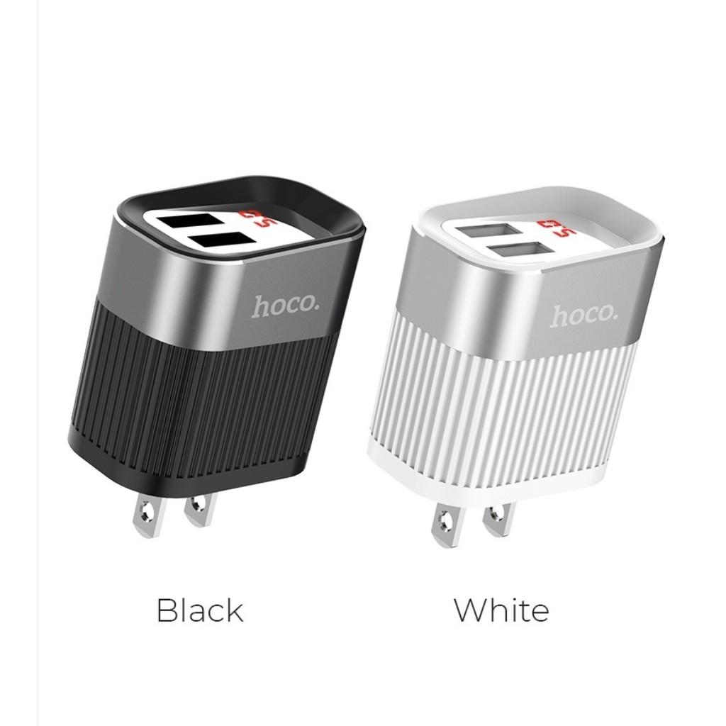 Củ sạc hiển thị đèn LED sạc nhanh 2.4A Hoco C40A