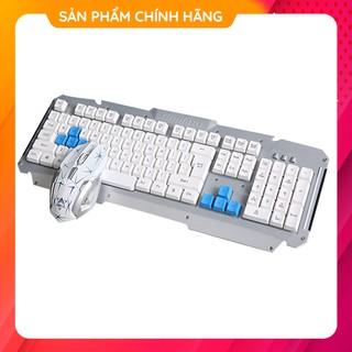 Bộ Bàn Phím Giả Cơ Gaming Kèm Chuột Chơi Game Không Dây Free Wolf HK1600 Đèn Led Cho Máy Tính Để Bàn PC Laptop