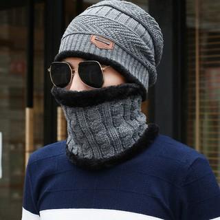 Mũ len kèm khăn quàng cổ nam