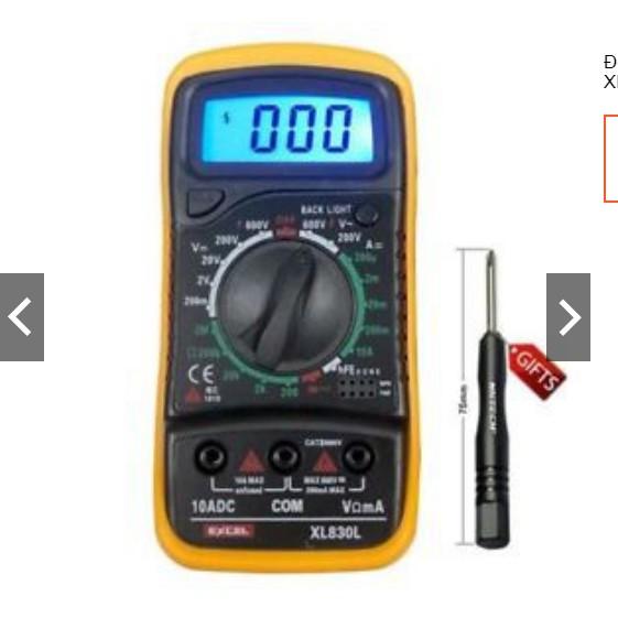 Đồng hồ vạn năng điện tử Digital XL 830L