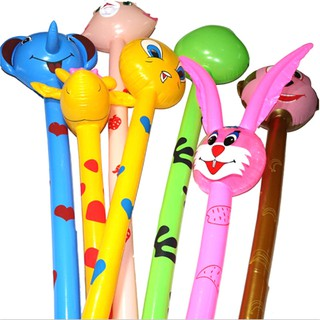 $VN Cartoon Inflatabel Animal Long Inflatable Hammer Stick Children Outdoor Toys