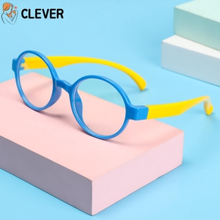 CLEVER Ultralight Children Goggles Radiation Protection Kids Eyeglasses Anti-blue Light Glasses Vision Care Soft Frame Anti-blue Rays Boys Girls Fashion Silicone Eyewear/Multicolor