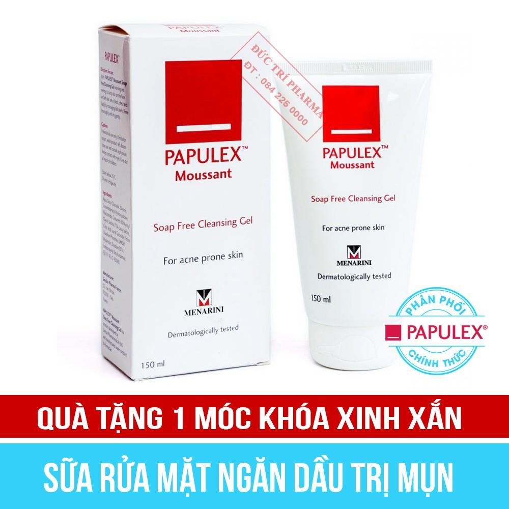 [Mã COSHOT24 hoàn 8% xu đơn 250K] [CHÍNH HÃNG] Sữa rửa mặt ngăn dầu trị mụn PAPULEX MOUSSANT GEL 150ml