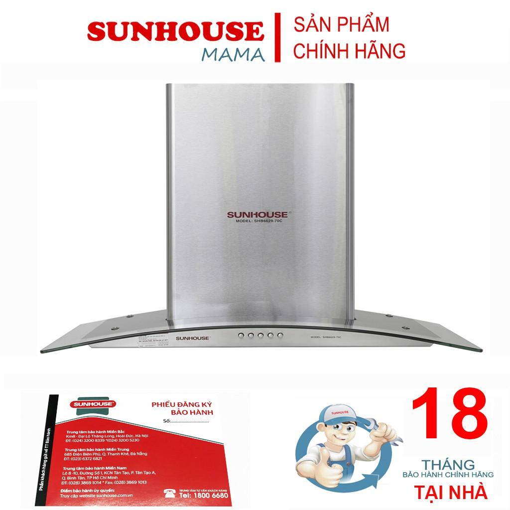 Máy hút mùi kính cong Sunhouse SHB6629-70C - Máy hút khói, khử mùi Thương  hiệu SUNHOUSE