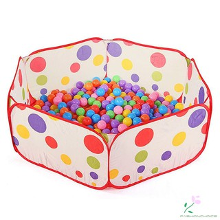 Portable Kids Pool Children Outdoor Indoor Game Polka Dot Baby Toy Ocean Ball Pit (Without balls)