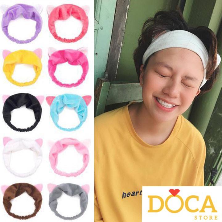 Băng đô bờm turban tai mèo rửa mặt nữ đẹp Hàn Quốc HANI BD01