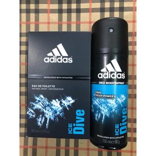 Bộ nước hoa + xịt khử mùi nam Adidas Ice Dive thumbnail