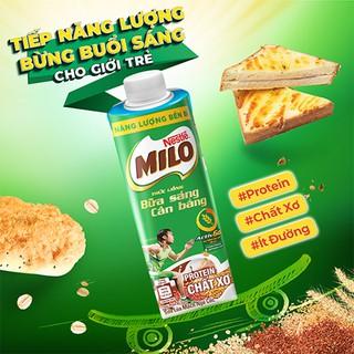 Hình ảnh [Mua 12 tặng 12] Thùng 24 hộp sữa lúa mạch ngũ cốc Nestlé MILO teen bữa sáng ít đường 200 ml/hộp-6