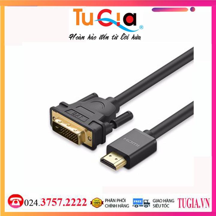 Cáp Chuyển Đổi Ugreen HDMI Sang DVI Sợi Tròn 11150 2m - Hàng Chính Hãng