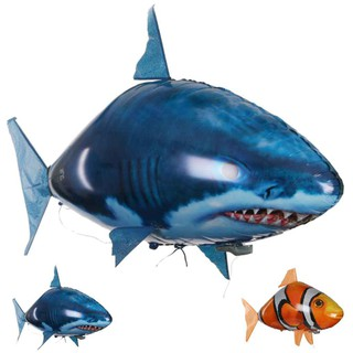 Remote Control Air Fly Fish Shark Kids Toys Clown Fish Balloons Inflatable Airplchoosewho