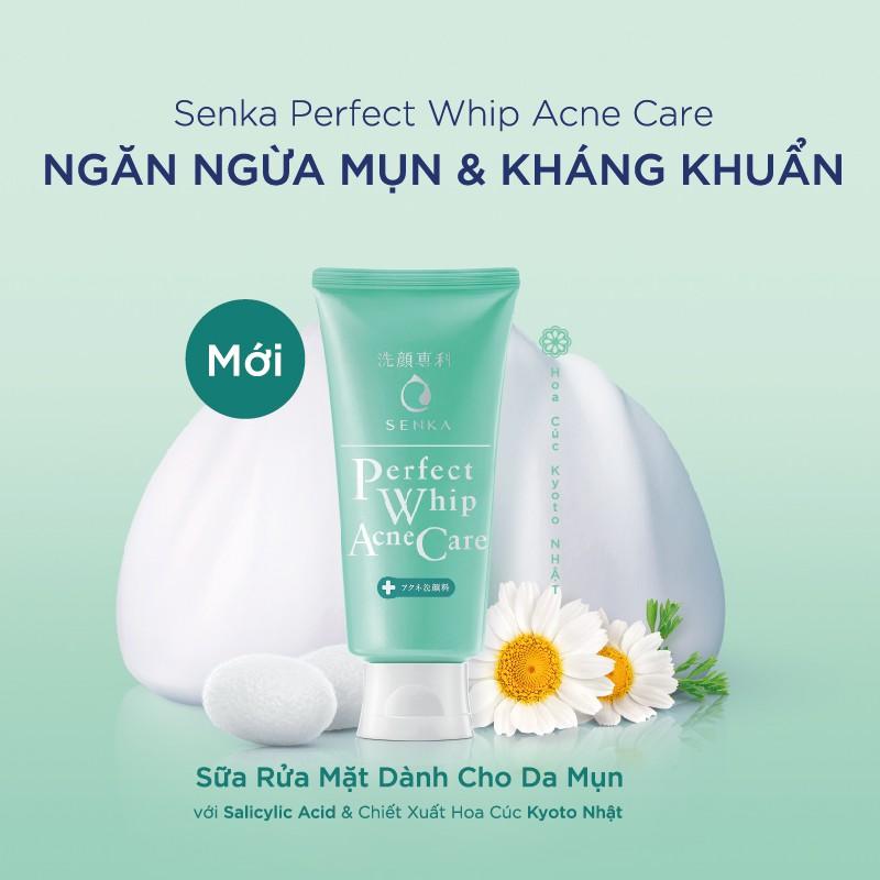 Sữa rửa mặt dành cho da mụn Senka perfect whip acne care 100g_15554