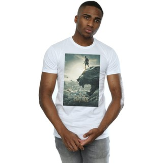 Marvel Men's Black Panther Poster T-Shirt Short sleeve Print graphic Loose Casual Cotton Couple Wear Comfort t shirts