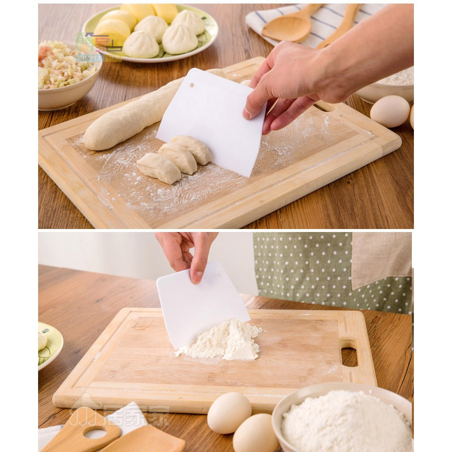 Miếng nhựa cắt bột 13.5cm / Miếng vét nhựa / Miếng chà láng nhựa Plastic Scraping Board Dough