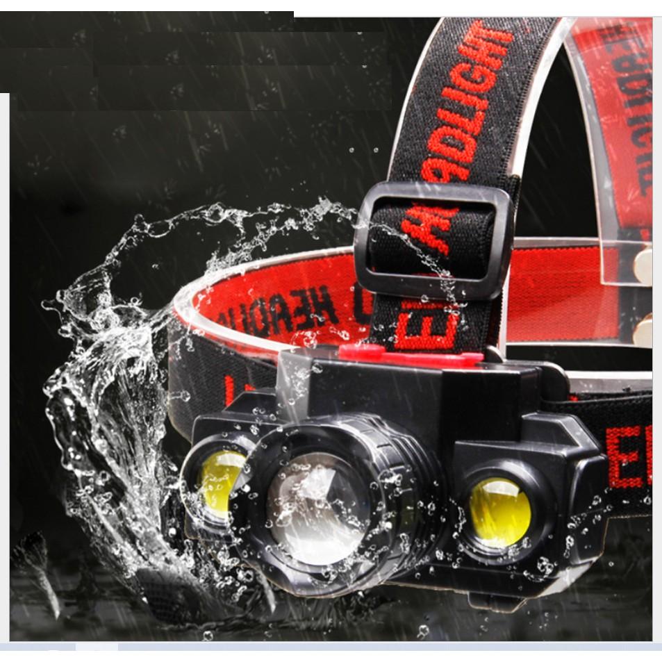 Đèn pin đội đầu 3 bóng siêu sáng T6 dùng pin 18650 giá cạnh tranh
