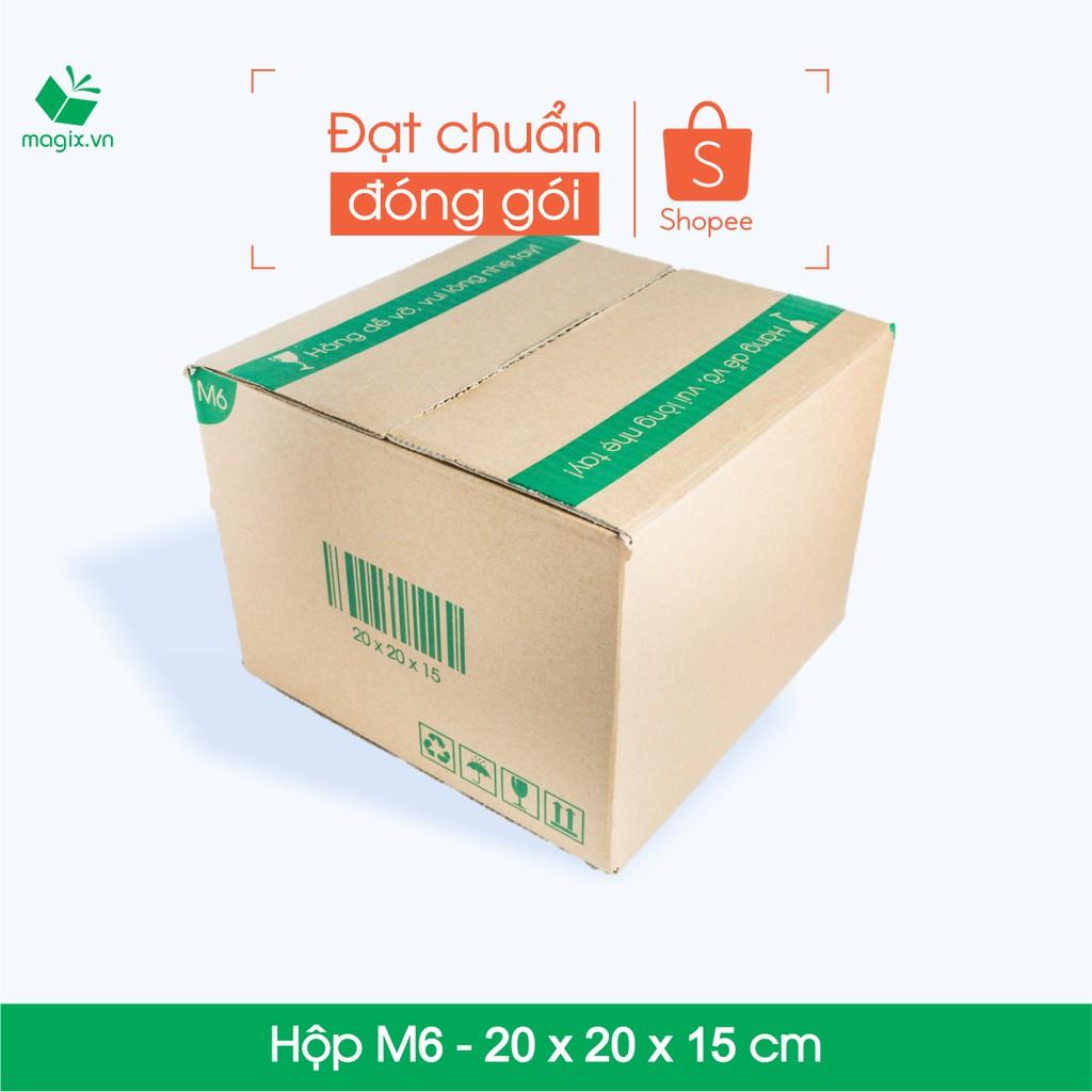 20 Thùng hộp carton - Mã M6 - Kích thước 20x20x15 (cm) - 2851016 , 319838377 , 322_319838377 , 118000 , 20-Thung-hop-carton-Ma-M6-Kich-thuoc-20x20x15-cm-322_319838377 , shopee.vn , 20 Thùng hộp carton - Mã M6 - Kích thước 20x20x15 (cm)