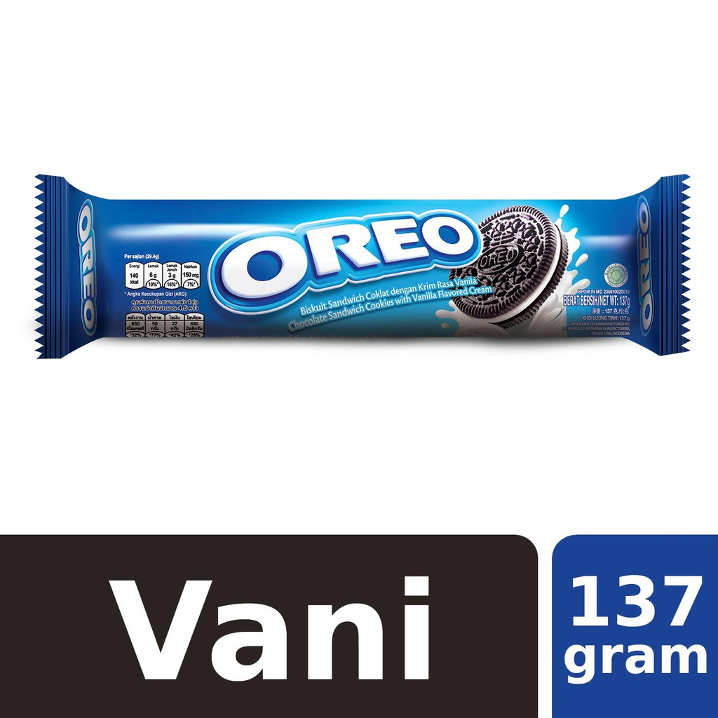 Bánh Oreo nhân kem Vanilla 137g